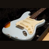 Smitty Custom Guitars CUSTOM CLASSIC S-style Sonic Blue over Sun